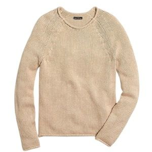 J. Crew Mercantile Rolled Neck Pullover Beige XS